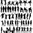 Collection of silhouettes — Stock Vector