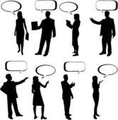Dialog People — Stock Vector