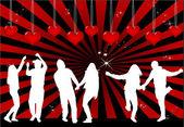 Las parejas de baile — Vector de stock