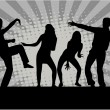 Stock Vector: Dancing people