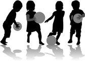 Spelen met een bal — Stockvector
