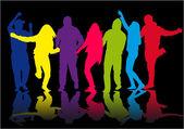 People dancing — Stock Vector