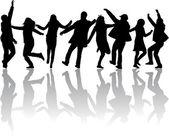舞蹈剪影 — 图库矢量图片