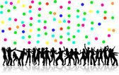 Dansande siluetter — Stockvektor