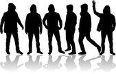 Group of men — Stock Vector
