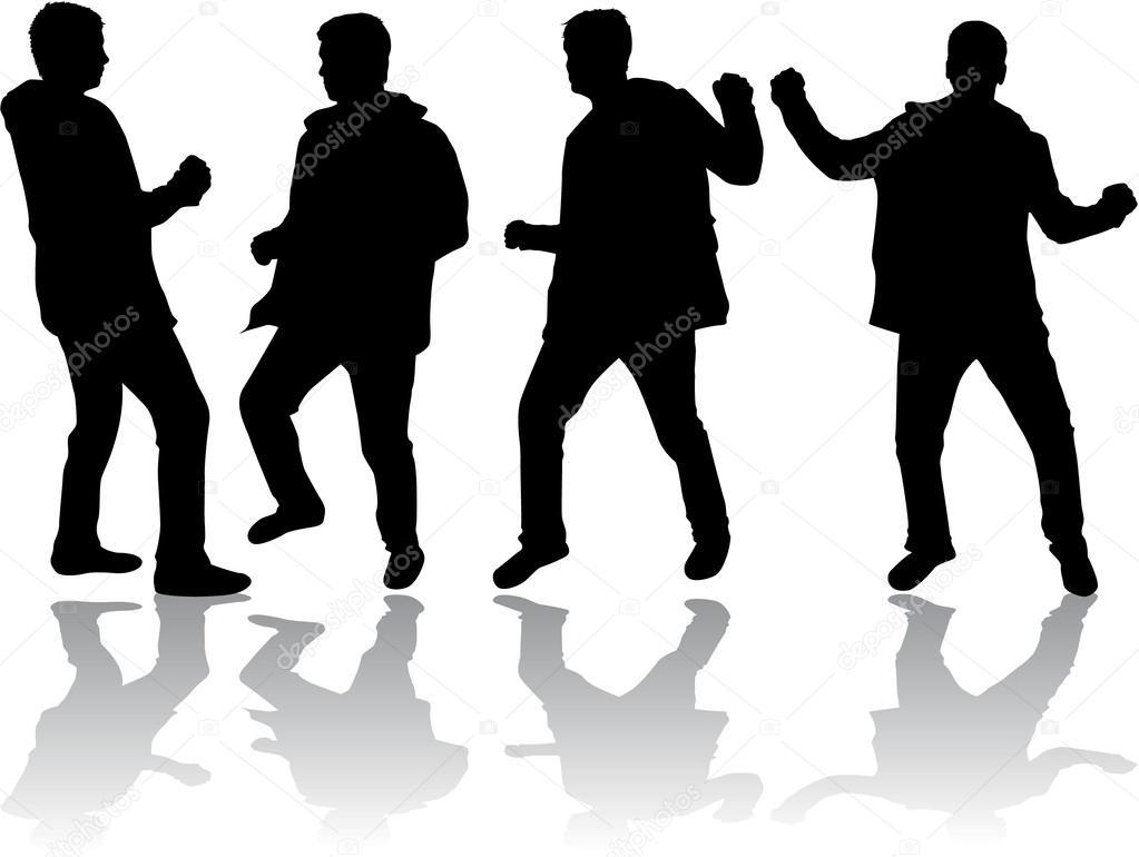 Siluetas De Hombres Bailando
