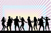 Dansen silhouetten — Stockvector
