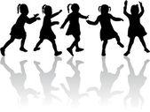 Group of children — Stock Vector