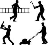 Construction crew — Stock Vector