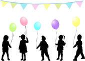 Children's birthday party — Stock Vector