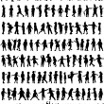 Children silhouettes — Stock Vector #48309585