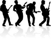 ギター奏者 — ストックベクタ