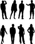 Skupina lidí — Stock vektor