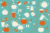 Coffe and tea — Stock Vector