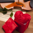 Beautiful roses and violin! — Stock Photo #15792833