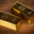 Gold bars on charts! — Stock Photo