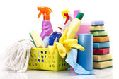 Cleaning items set — Stock Photo