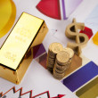 Gold bars! Money and financial — Foto Stock