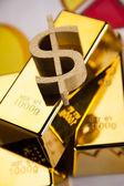 Gold bars on charts! — Stock Photo