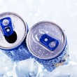 Stock Photo: Cold dring in can