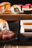 Delicious fresh sushi — Stock Photo