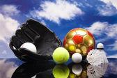 Sport theme! Balls — Stock Photo