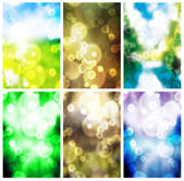 Colorful blurry background set — Stock Photo