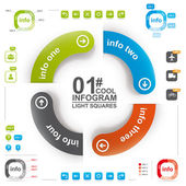 Cool infographics 1 — Vetor de Stock
