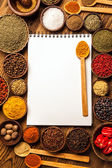 Great cookbook and spices — Foto Stock