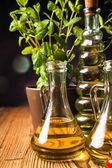 Samenstelling van olijfolie in flessen — Stockfoto
