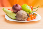 Tomate, beterraba, pimentão, cebola — Foto Stock
