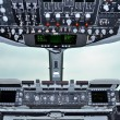 Airlifter cockpit interior — Stock Photo