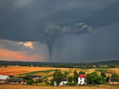 Twister on countryside — Stock Photo