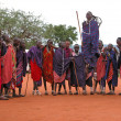 Massai welcome dance — Foto Stock