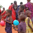 Stock Photo: Children of Masai tribe