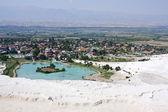 Pamukkale, Turkey, top view — Stock Photo