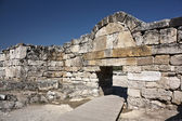 The gate of ancient Hierapolis, now Pamukkale, Turkey — Stock Photo