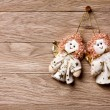 Christmas decoration -  Two angels — Stock Photo