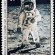Postage stamp - Man on the Moon - Stock Photo