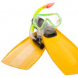 Flippers and mask for a scuba diving — Stock Photo