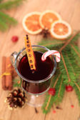 Christmas mulled wine, top view — Stock Photo