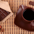 Coffee and chocolate, top view — Stock Photo #34816641