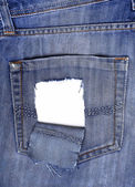 Leaky back pocket of jeans — Stock Photo