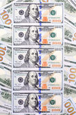 Background of the new U.S. hundred-dollar bills put into circula — Stock Photo