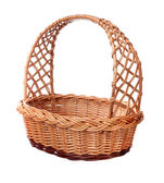 A wicker basket with handle. — Stock Photo