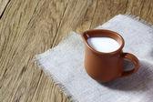 Melk in een kruik — Stockfoto