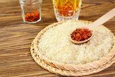 Saffron and rice — Stockfoto