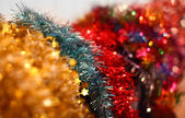 Colorful Christmas garlands (many colors) — Stock Photo