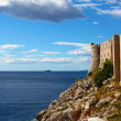 Panorama of walls which is defending old Dubrovnik — Stock Photo