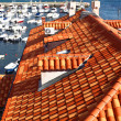 Famous red tiled rooftops in Dubrovnik — Stock Photo